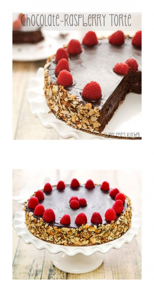 Chocolate-Raspberry Torte...Rich and fudgy chocolate cake with a heavenly raspberry filling and glossy ganache topping.