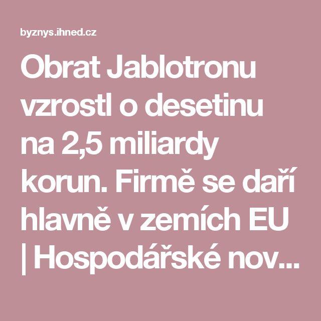 Obrat Jablotronu vzrostl o desetinu na 2,5 miliardy korun. Firmě se daří hlavně v zemích EU   Hospodářské noviny (IHNED.cz)