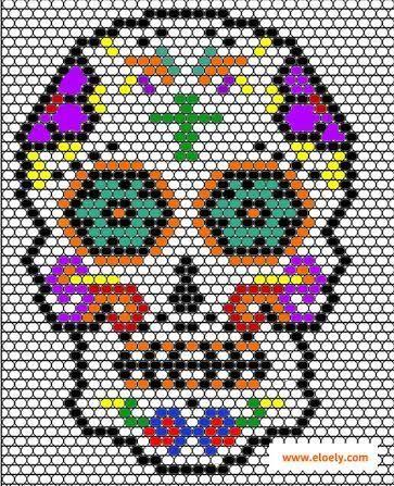 Pixel Art Tete De Mort Mexicaine Facile