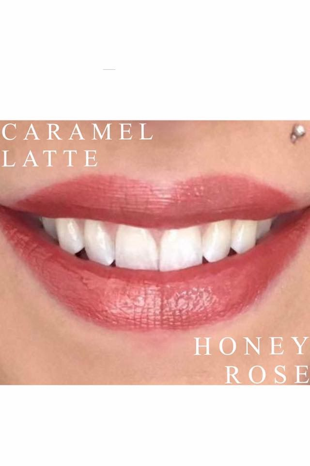 Caramel Latte on top & Honey Rose on bottom. LipSense Distributor ID #359444. Contact me today! T3SassySugar@comcast.net