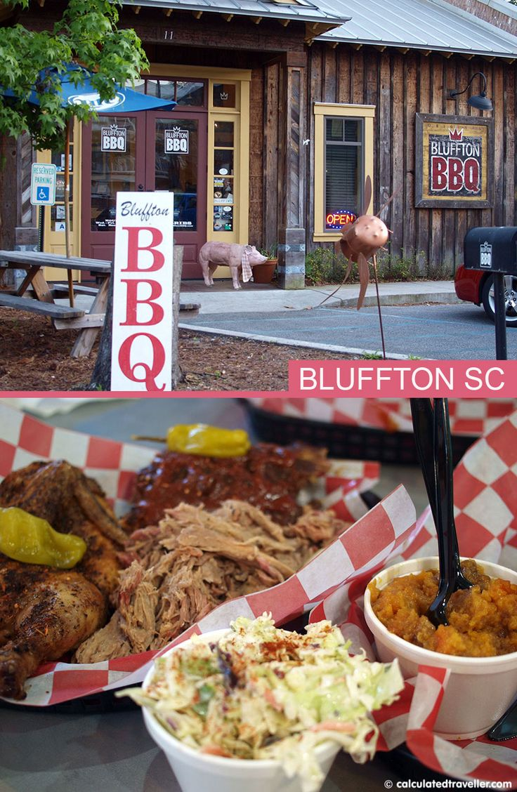 I've never seen pigs actually fly but at Bluffton BBQ in South Carolina they seem to and fly they do right out of the smoker and into your waiting belly!