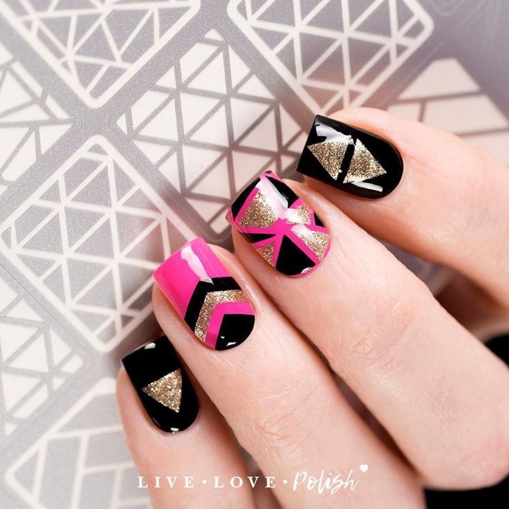 Que Significa Black Nail Polish: Best 25+ Geometric Nail Art Ideas On Pinterest