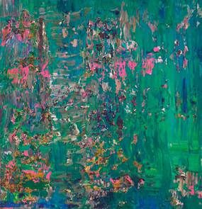 Day Water Lilies 1: Abstract Art