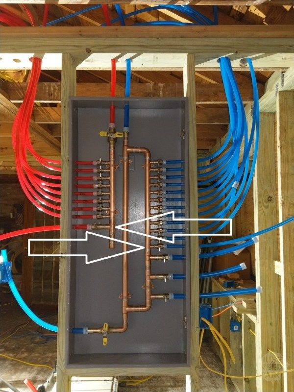 How To Build A Pex Manifold A Step By Step Guide Just Needs Paint Pex Plumbing Plumbing Water Plumbing