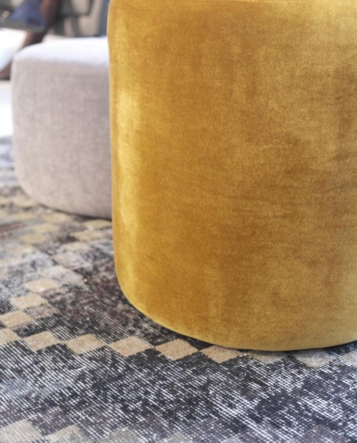 No. 8 #danishdesign #furniture #scandinaviandesign #interiordesign #furnituredesign #nordicinspiration #retrostyle #yellow #Pouf #Velours #Samt