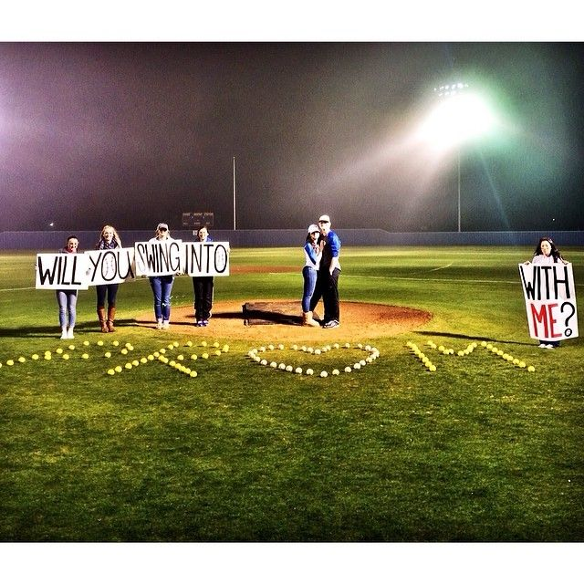 Pin for Later: Promposals Are the New Proposals Baseball Field