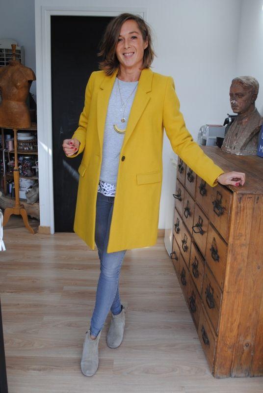 les 25 meilleures id es de la cat gorie manteau jaune sur pinterest manteaux jeans prune et. Black Bedroom Furniture Sets. Home Design Ideas