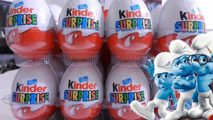 24 Kinder Surprise Eggs Unboxing Smurfs 2 Eggs Smurfs Charachters and other sweet toys!