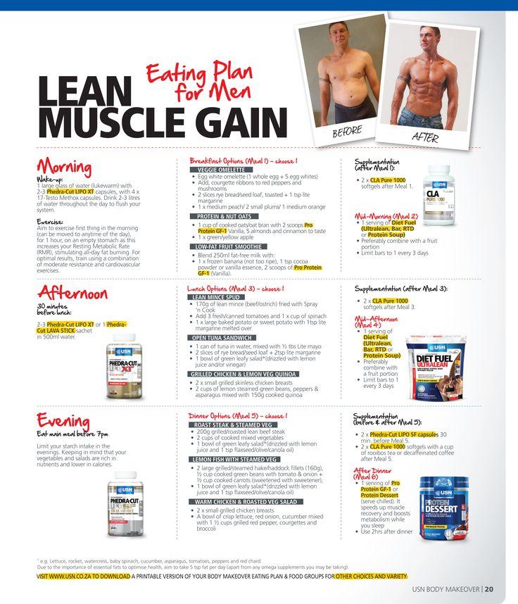 sample diet plan for lean muscle gain