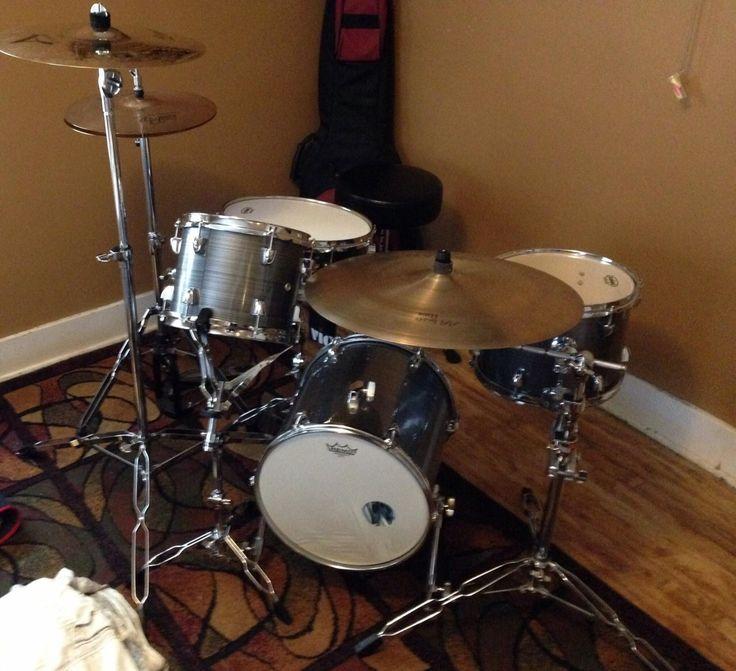Drum set/ Minimal drum set/ Paiste Cymbals/Sabian Cymbals/drum set pocket/custom drum set/compact kit/Evans drum heads/JeffandMario