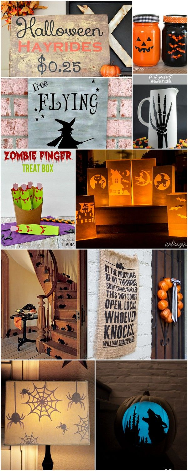 10 Awesome Silhouette Halloween Project Ideas | dawnnicoledesigns.com