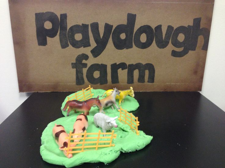 Farm animal play dough