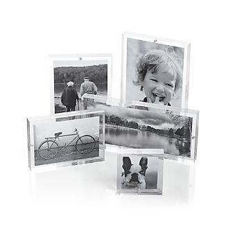 crate and barrel acrylic block frames