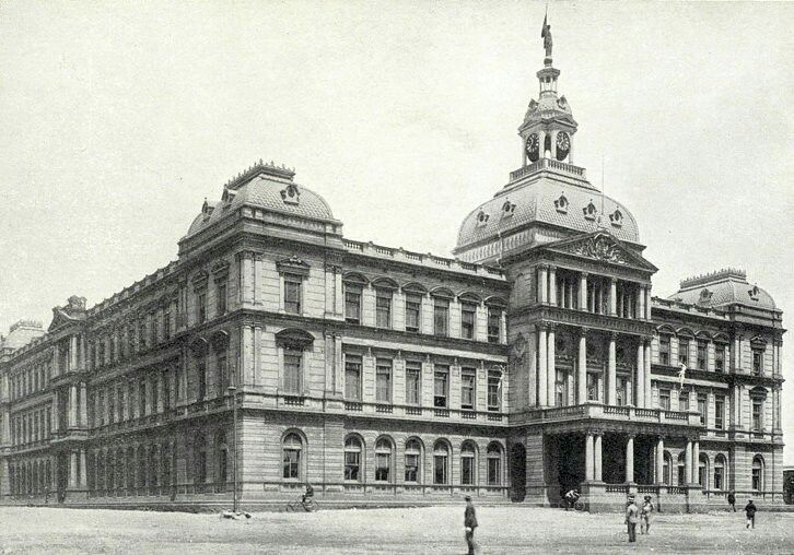 Ou Raadsaal (Old Council Hall) on Kerkplein in Pretoria,South Africa (year unknown).