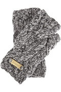 Burberry cable-knit wool fingerless gloves