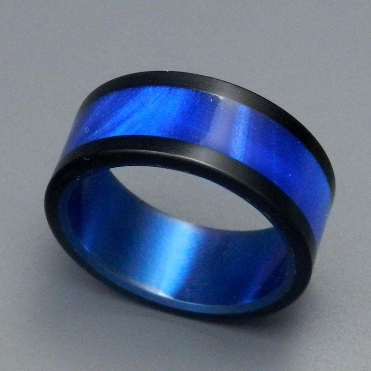 Unique Wedding Rings | Titanium Rings - Avec Tu Titanium Ring | Titanium Rings | Minter + Richter