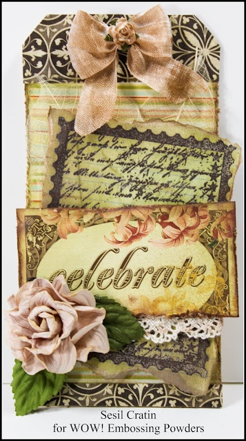 Made by Sesil Cratin for WOW Embossing....beautiful!