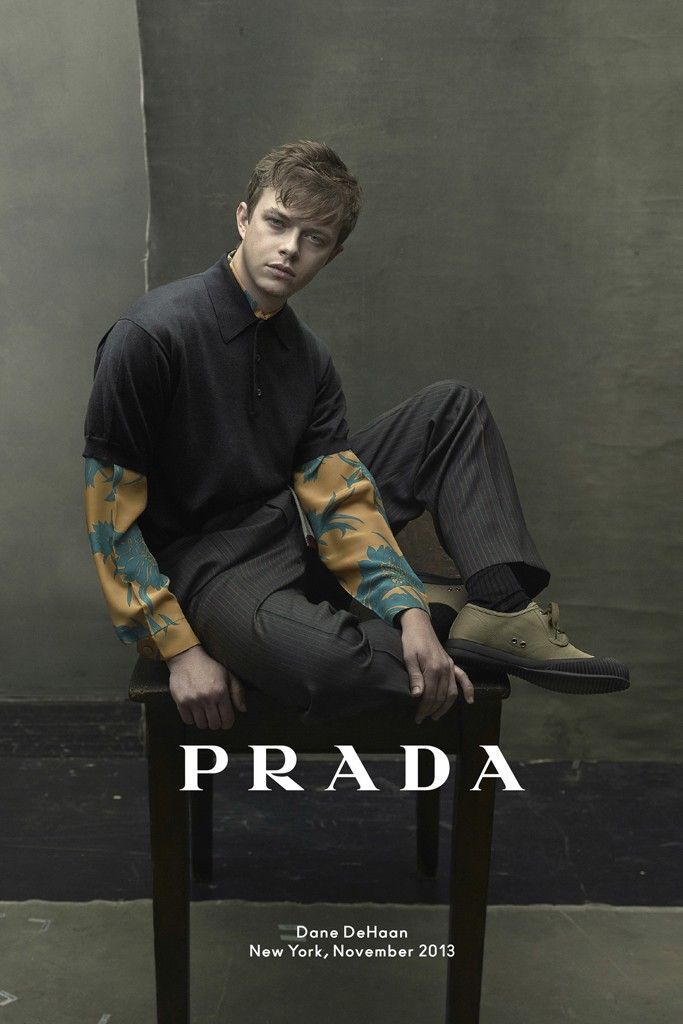 An ad from the Prada Men's spring 2014 campaign, featuring Dane DeHaan, photographed by Annie Leibovitz. [Photo Courtesy of Prada]