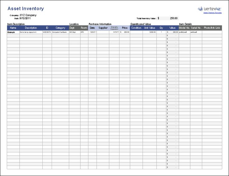 download a free asset or equipment tracking spreadsheet to
