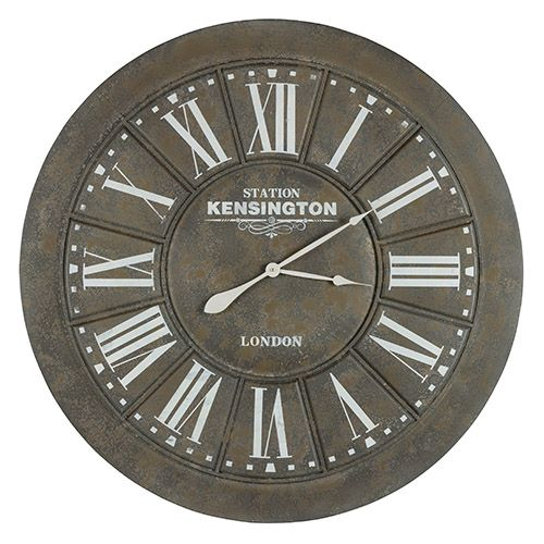 capen black crackle and brown clock wall mounted clock clocks home decor