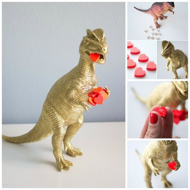 Heart-Eating Dinosaur | 40 DIY Valentine's Day Gifts They'll Actually Want