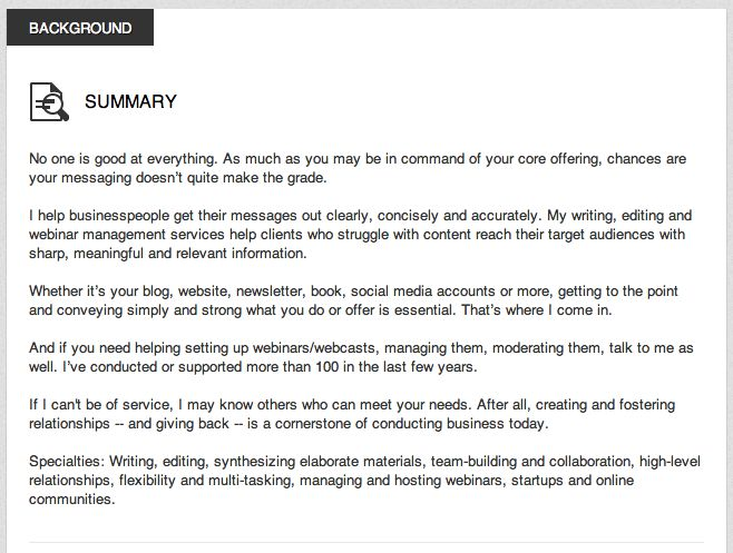 Great examples of LinkedIn profile summaries Road to Success - examples of professional summaries