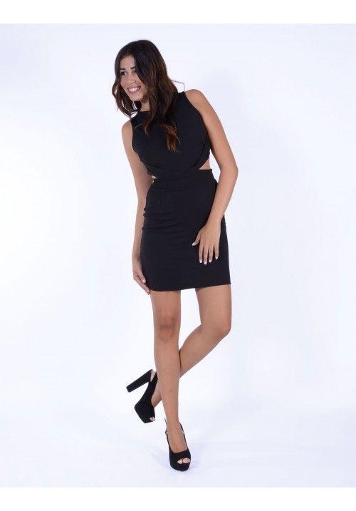 Φόρεμα ανοιχτή πλάτη με φερμουάρ