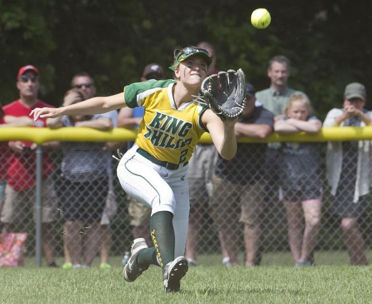 King Philip center fielder Christa Wagner caught a sinking liner off the bat of Silver Lake's Hannah Johnson during the fourth inning.