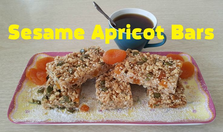 Sesame Apricot Bars in 20 minutes!