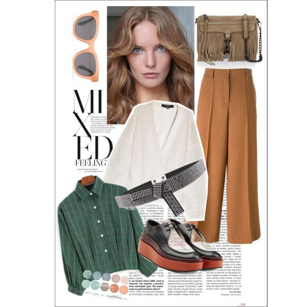 A fashion look from November 2015 by prusakova-1 featuring White House Black Market, Madewell, TIBI, Forte Forte, Jil Sander и Rebecca Minkoff