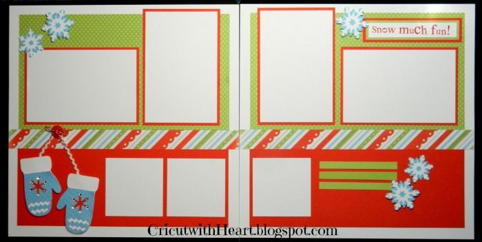 Cricut with Heart: Snow Much Fun! Layout