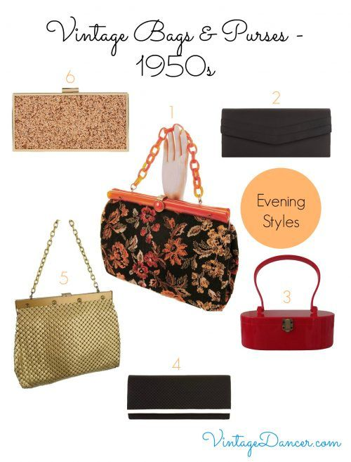 Recreate a 1950s evening style with this selection of bags and purses currently available.