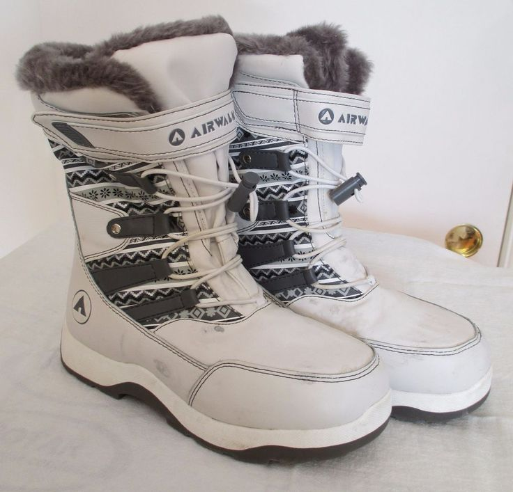 Womens AIRWALK Snow Boots Size 6.5 6-1/2 Insulated White Winter Boots #Airwalk #SnowWinter