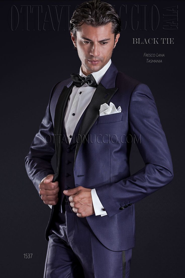 Pure Tasmania blue wool tuxedo with black lapel and shawl waistcoat  #bespoke #madeinitaly #tuxedo #weddingtuxedo #groomsuit