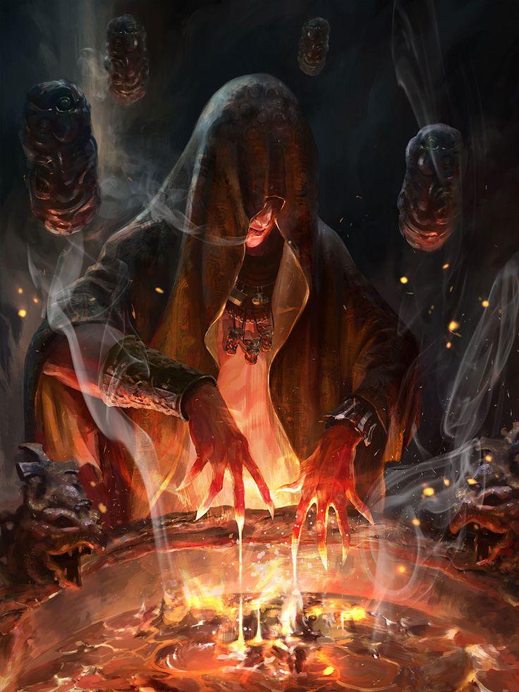 Pyrina N°5  Bruja de fuego hermana mayor de Pyransa. Arma 4 brasas infernales. -Resistencia: humana normal, mental muy alta, magica y fuego. -Poder: magia de fuego. -Debilidades: veneno, heridas mortales, mental muy alta, magias antifuego.