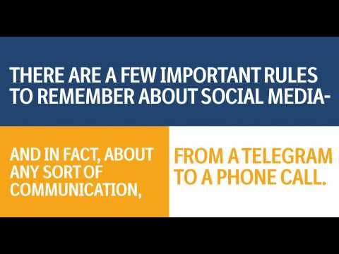 Boehringer US explains the rules of social media to employees in quite a cool way.