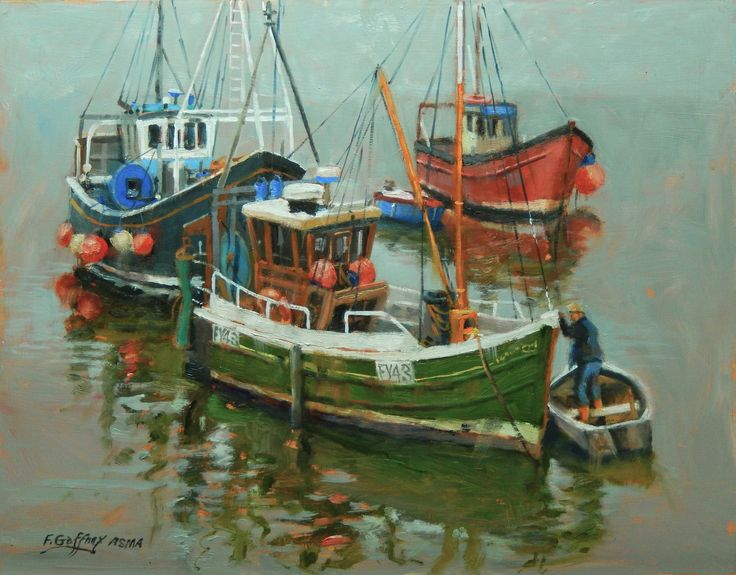 25 best ideas about fishing boats on pinterest ocean for Fishing boat painting