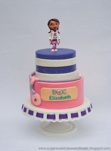 Doc McStuffins Cake/ maybe not for her first bday, but later on :)