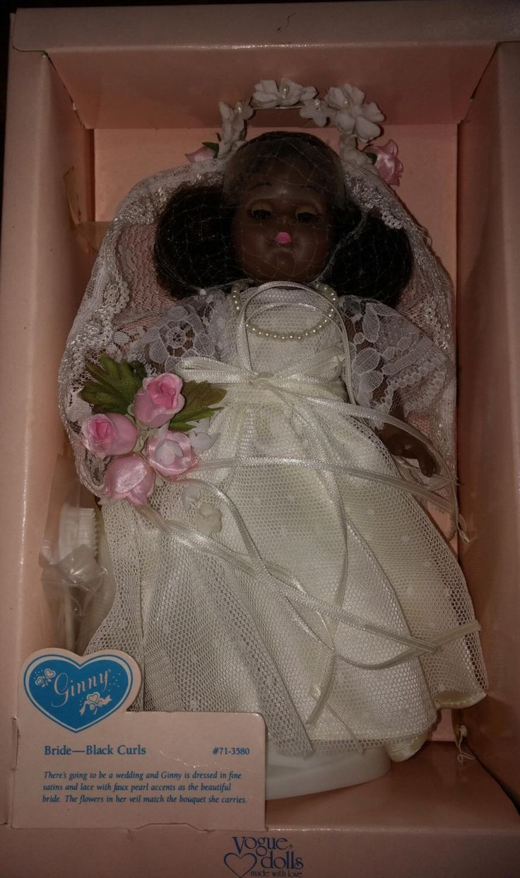 Reduced Lovely African American Ginny Doll NIB Black Bride African American by LoveliesFromLily on Etsy https://www.etsy.com/listing/236178002/reduced-lovely-african-american-ginny