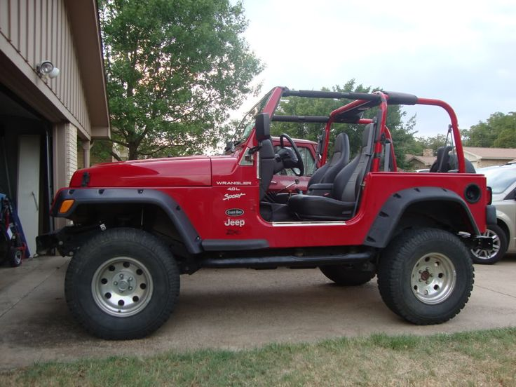 Red Jeep Wrangler = Perfection