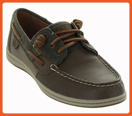 Sperry Top-Sider Women's Songfish Waxy Canvas Boat Shoe,Taupe Leather/Canvas,US - Athletic shoes for women (*Amazon Partner-Link)