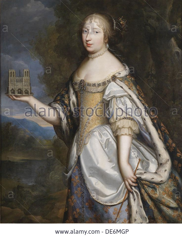 Portrait of Maria Theresa of Spain (1638-1683), Queen consort of France and Navarre