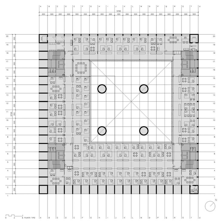 AD Classics: Caja Granada Savings Bank,Ground Floor Plan. Image © Estudio Arquitectura Campo Baeza