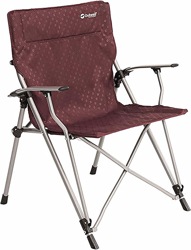 Outwell Chaise De Camping Goya Claret Steel 470316 Camping Chair Camping Chairs Folding Camping Chairs