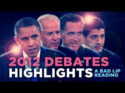 """2012 Debates Highlights"" — A Bad Lip Reading of the 2012 US Presidential Debates........Hahahahahahahahahahahahahahahahahahaha"