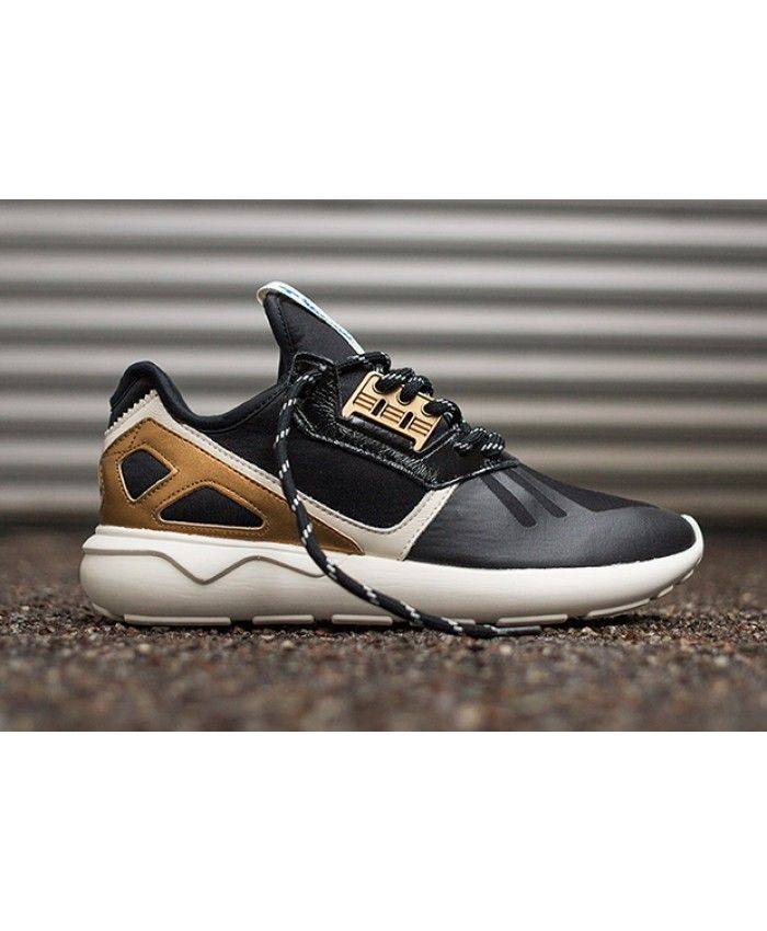 newest 1e930 b19c9 Adidas Tubular Radial Trainers In Strap Gold Black | adidas ...