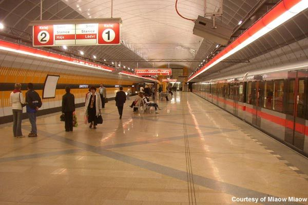 Prague metro extension continued in 2004 with a northern expansion to Line C, which included the construction of new tunnels under the Vltata River and two additional stations; Kobylisy and Ládví. - Image - Railway Technology