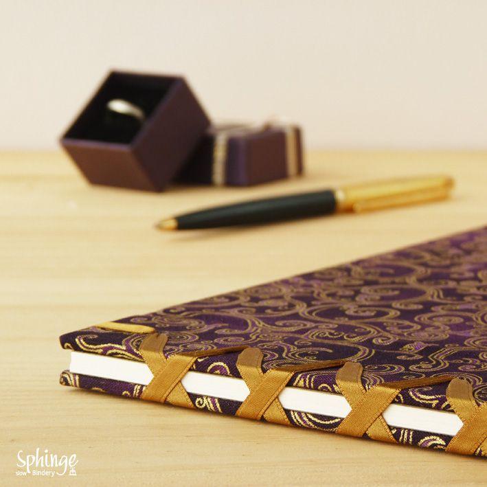 japanese stitch libro de firmas para boda hecho a mano