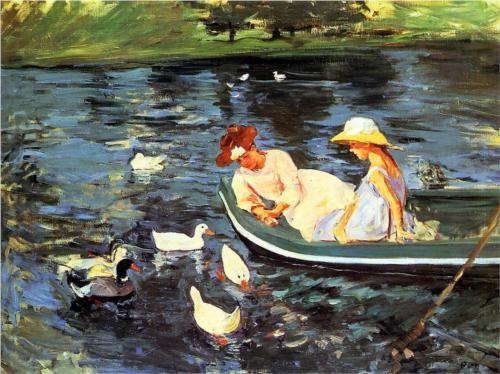 1894 Summertime - Mary Cassatt Technique: huile Matériel: toile Galerie: Armand Hammer Museum of Art et Centre culturel, Los Angeles, États-Unis