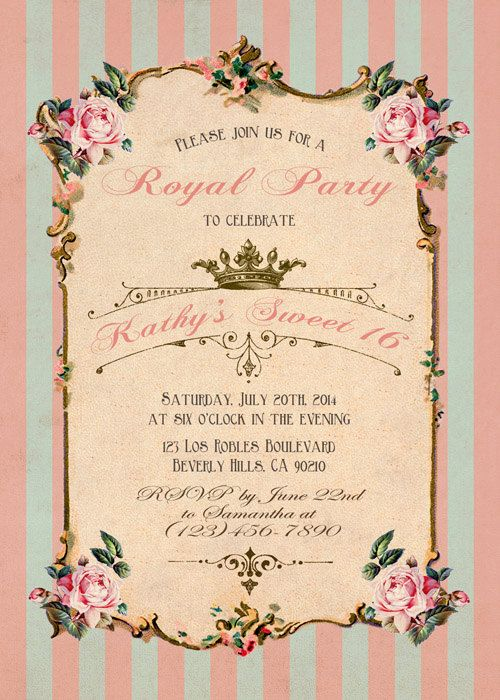 Best Birthday Invitations Images On Pinterest Etsy Shop - Write a birthday invitation in french